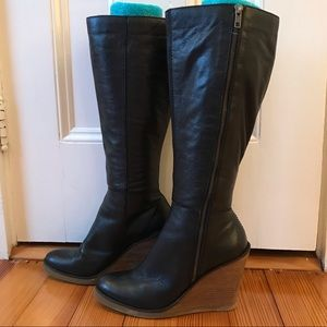 Lucky Brand black leather boots